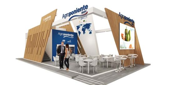 Our interior design team created this stand for Agroponiente, a functional, practical stand full of design
