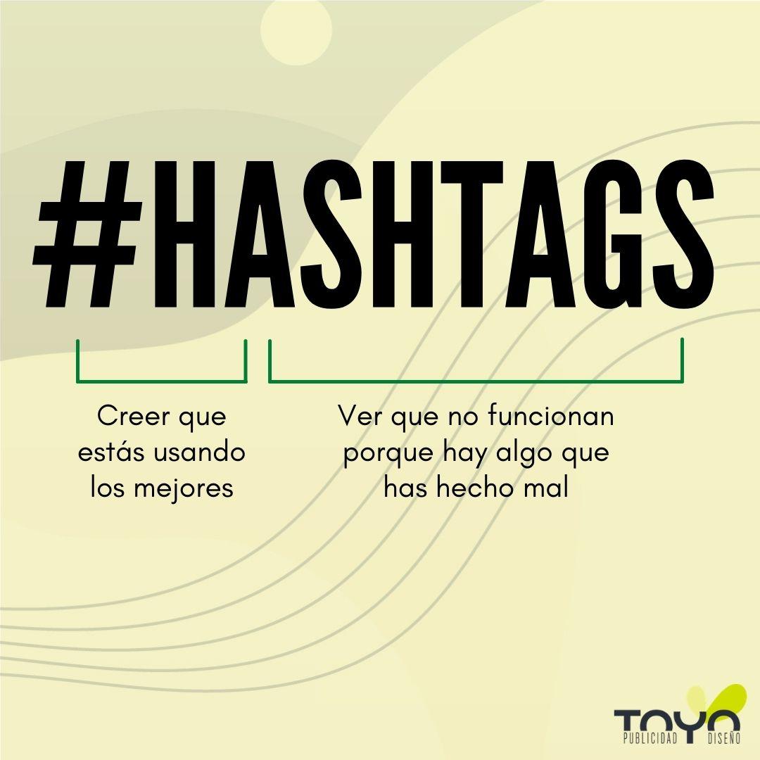 Utiliza bien los hashtags